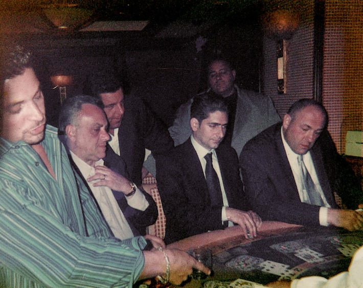 At the table (from left to right) Richard Botto, Vincent Curatola, Steve Schirripa, Michael Imperioi, James Gandolfini