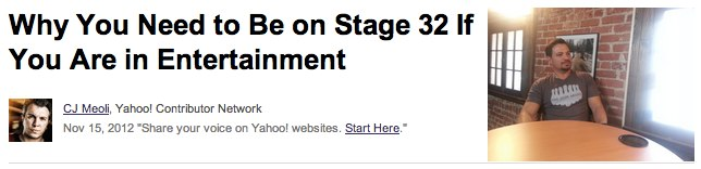 Why You Need to Be on Stage 32 If You Are in Entertainment