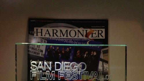 2009 SDFF Best Documentary trophy and BHS Harmonizer cover