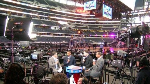 Turner booth at NBA All-Star game in Cowboys Stadium