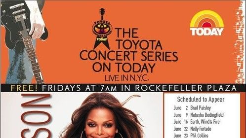 Toyota Concert Series on TODAY Ad + Key Art