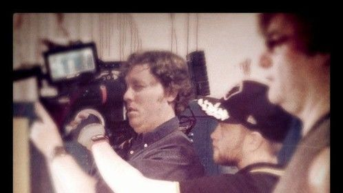 On set of 'Detention of the Dead' with DP Noah Rosenthal