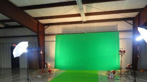 Our green screen setup