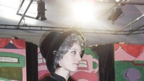 """Supporting actress playing Nanny Cas in """"Mary Lou' Christmas pantomime 2009."""