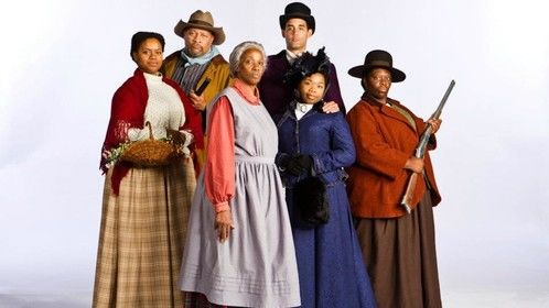 Cast promo photo for Flyin' West