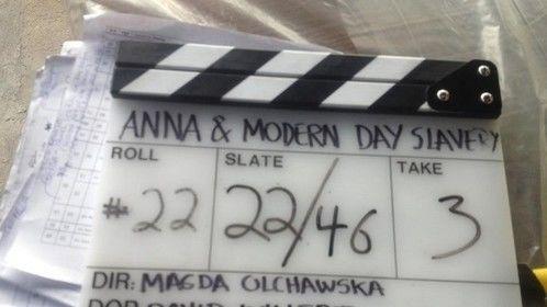 Anna nd Modern Day Slavery filming