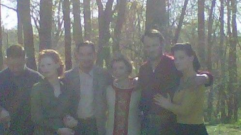 From right to left Courtney Penny (my wife) Jason Clarke, Mia Wasikowska, Shia LaBeouf, Jessica Chastain, and Tom Hardy