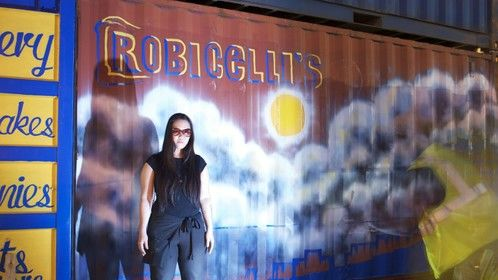 Painting a Mural for Robicelli's Bakery (Brooklyn, NY) 2011