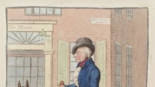 George in a political cartoon years after the war