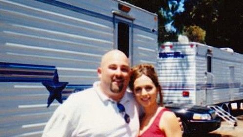 Eliza Dushku and Me On Back Lot at SONY in L.A.