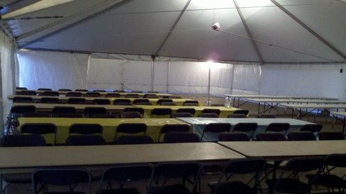 Locations lunch tent