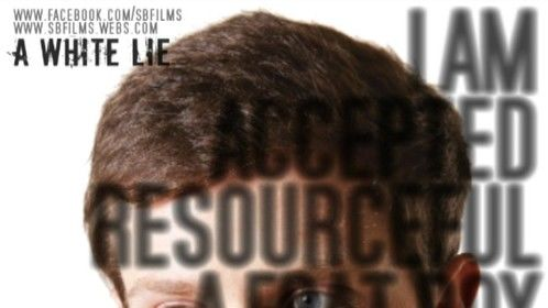 """""""A White Lie"""" Pre-production, promotional poster (2011)"""