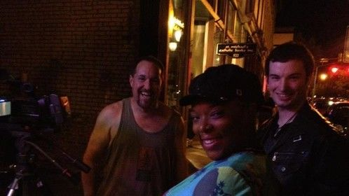 DP Bret Robinson with stars Anitrea Harris and Tyler Chappell.