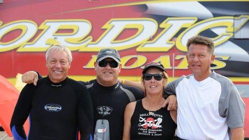 My Crew - Capt. John, Me, Capt. Kathy, John Rottger