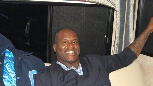 Shaq Hanging Out in NBRV Motor Home