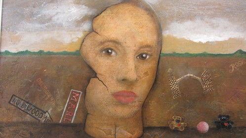 """""""Junk Yard of My Life,"""" Oil on Wood by Jan Beran"""