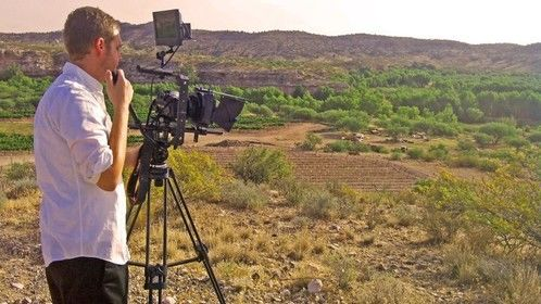 Shooting at Alcantara Vineyard near Flagstaff, Az with my 7D Cine rig.