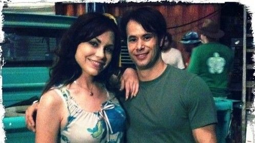 """on set of the feature film """"MIDDLE OF NOWHERE"""" with costar Carl Schreiber"""
