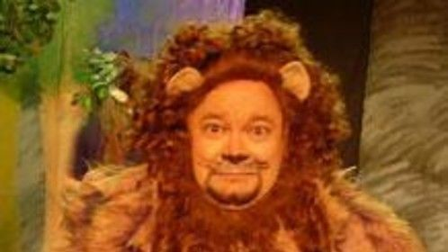 "Cowardly Lion in ""Wizard of Oz"""