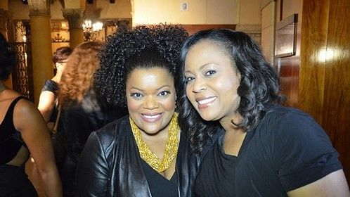 Here I am with Actress Yvette Nicole Brown at the Eye on Black Awards show.
