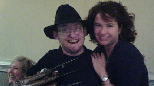 with Heather Langenkamp from Nightmare On Elm Street 1(1984), 3, Wes Craven's New Nightmare, Just The 10 Of Us and Tonya & Nancy
