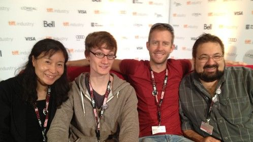 The Filmmaker's lounge at the Toronto Internationla Film Festival - Writer/producer/director team
