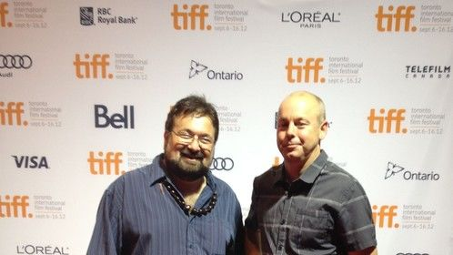 "With my friend Directior of Photography Jim Van Djik in the Toronto film festival. Jim is working next in the film ""August"" star"