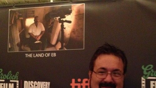 "At the Discovery awards party where ""Land of Eb"" was up for an award"