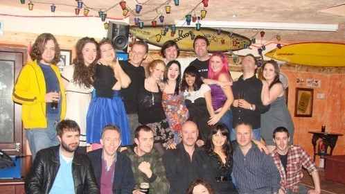 With my crew at the wrap party for 'The House'