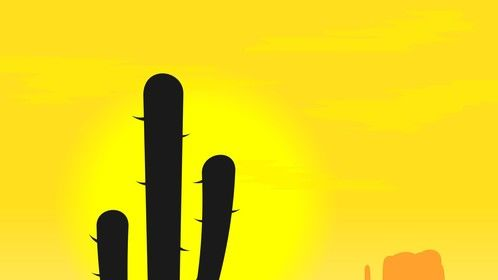 Mexican Cactus Background