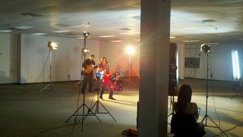 On the set for No Te Vas Music Video Orlando