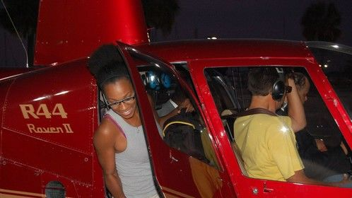 Hopping in the helicopter! This is SO MUCH FUN!