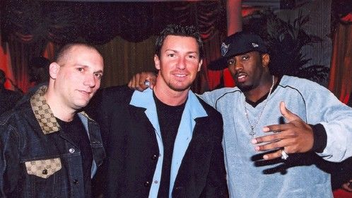 Music Mogel Steve Rifkind and P.Diddy with Richard Wilk at Steve's private birthday party
