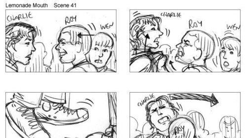 Storyboard from Lemonade Mouth