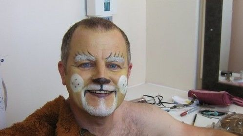 Cowardly Lion backstage at the North Pier Blackpool