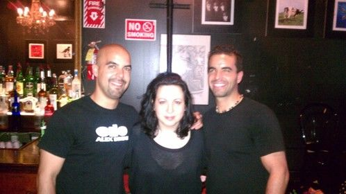 Natasha Lee Martin with our musical guest, Alex Berne (Right) and Jean-Marc Berne (Left) at The Producer's Club in Manhattan.