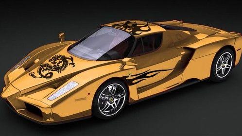 Gold Enzo Ferrari