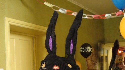 1 of 4 Bunny Balaclava's i made for Horrid Henry 3D feature film