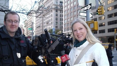 Keith with Cathy Killick in New York City