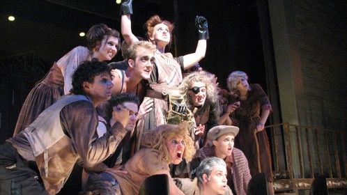 "Penelope Pennywise ""Priveledge to Pee"" in URINETOWN. Bigfork Summer Playhouse."