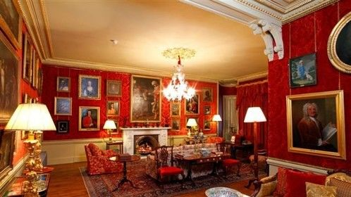 Red Drawing room Aldourie Castle