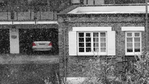 Snow in St. John's Wood London