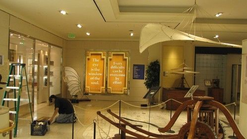 posters installation inside Exhibit area