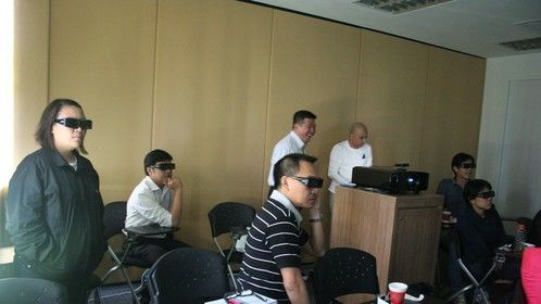 Stereoscopic 3D workshop conducted by Clyde DeSouza, at Singapore Media Academy