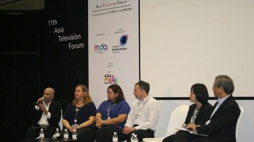 Speaking at Asia Television Forum 2011