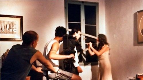 Ivan Zuccon filming Michael Segal and Cristiana Vaccaro