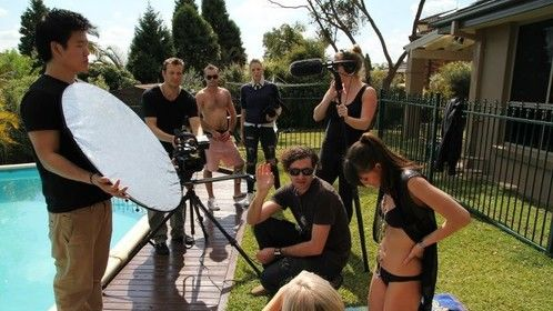 Screenwise Director Dean Francis on location with the 2 Year Part-time Students