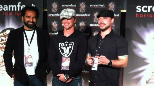 """On the BLACK carpet at SCREAMFEST '11 with our short film """"CHAINED"""""""
