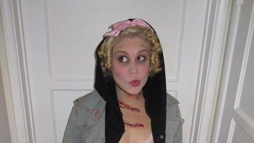 Goldilocks (mauled by a bear) makeup 2009