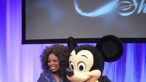 "Michelle Marshall introduces Disney Paris Mickey for The ""O""show in Amsterdam Holland Nov17,12,"